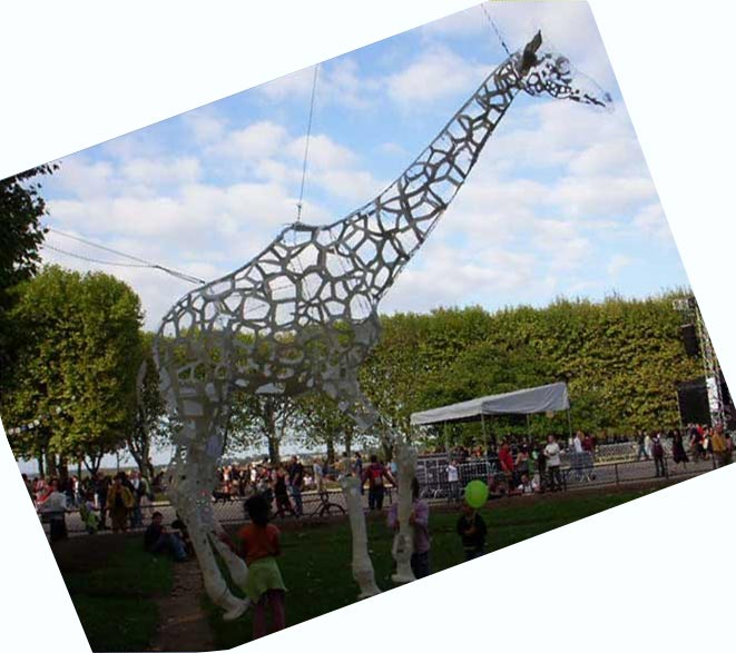 Sculpture girafe - sculpture filaire - wire art