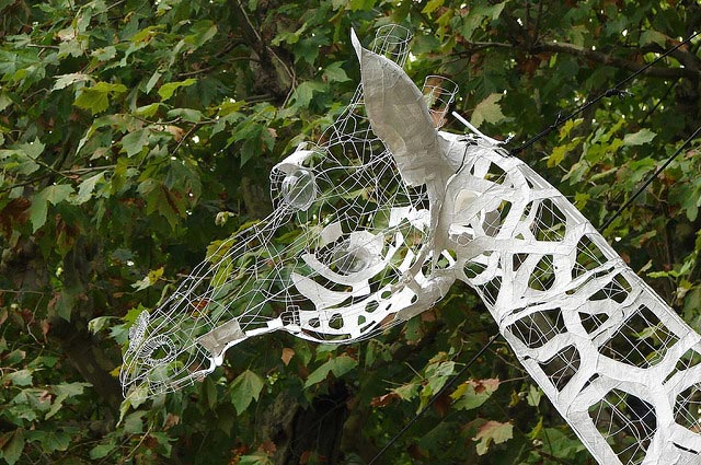 Sculpture filaire Girafe - wire art